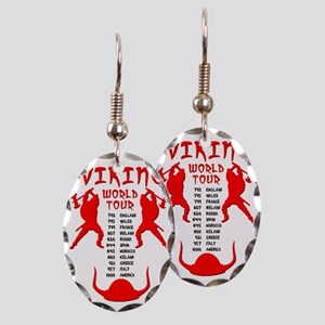 Viking World Tour Funny Norse T Earring Oval Charm