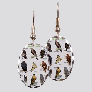 Birds of Prey Earring Oval Charm