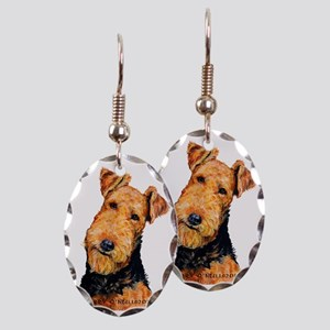 Airedale Terrier Earring Oval Charm