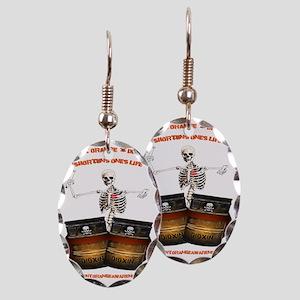 Back  4 T Earring Oval Charm
