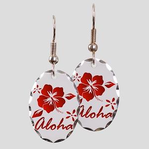 Aloha Earring Oval Charm
