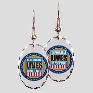 Deplorable Lives Matter Earring Oval Charm