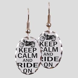 Bon - Keep Calm Earring Oval Charm