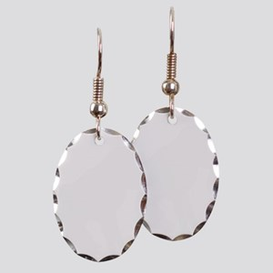 bucknbroncowhitelogo Earring Oval Charm