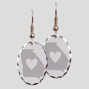 Heart Georgia Earring Oval Charm