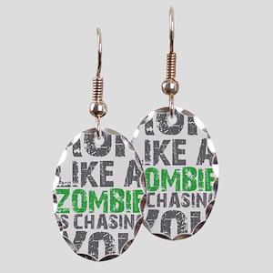 Run Like A Zombie Is Chasing Yo Earring Oval Charm