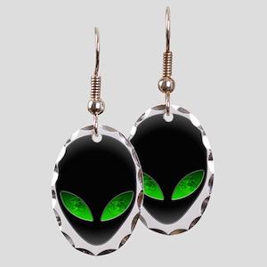Cool Alien Earth Eye Reflection Earring Oval Charm