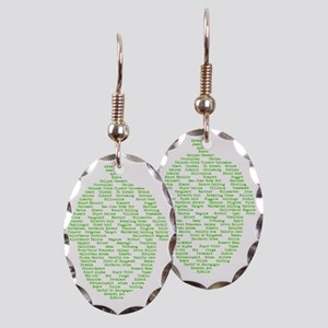 Hops of The World Earring Oval Charm