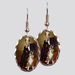 Lincoln & his Boxer Earring Oval Charm