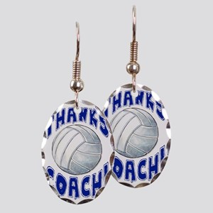 ThxVolleybCoach Earring Oval Charm