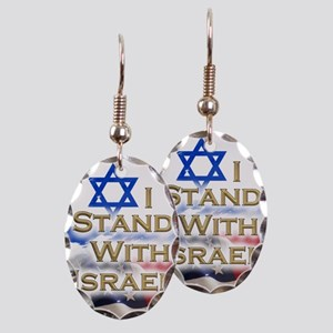 I stand with Israel 001 Earring Oval Charm