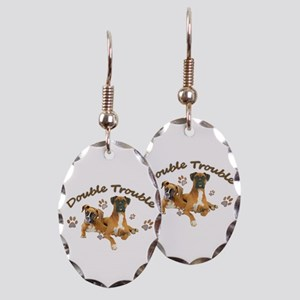 Boxer Double Trouble Earring Oval Charm