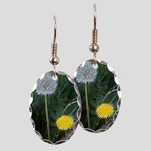 Dandelion (Taraxacum officinale Earring Oval Charm