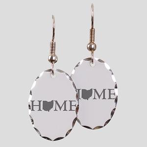 Ohio Home Earring Oval Charm