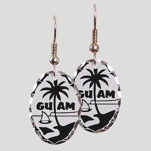 Guam Seal Earring Oval Charm