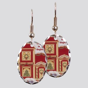 airedale terier card inside Earring Oval Charm