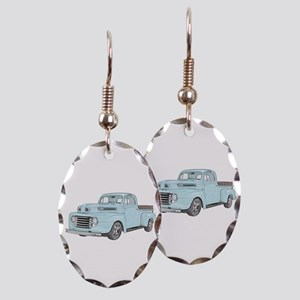 1950 Ford F1 Earring Oval Charm