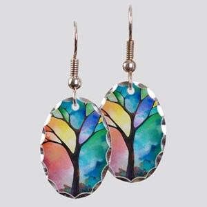 Tree of Light by Sally Trace Earring Oval Charm