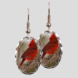 cardinal1pster Earring Oval Charm
