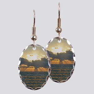 psalm143v Earring Oval Charm