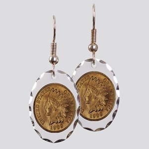 1909 Indian Cent Earring Oval Charm