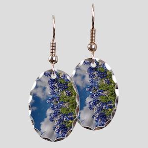 Texas Bluebonnets - 4217v Earring Oval Charm
