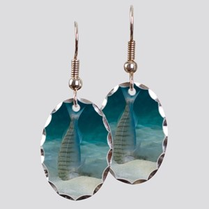 Striped seabream searching for  Earring Oval Charm