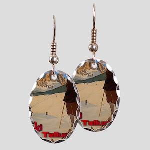 ski-girl-telluride Earring Oval Charm