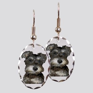 Puppy Earring Oval Charm