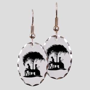 Jane Austen Gift Earring Oval Charm