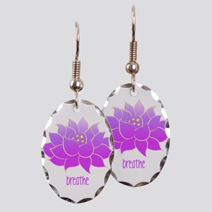Breathe Lotus Earring Oval Charm
