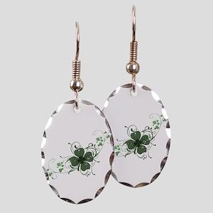 Elegant Shamrock Earring Oval Charm