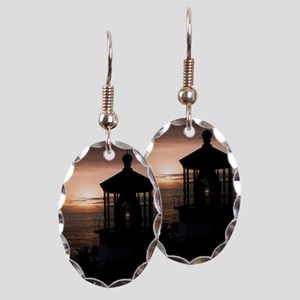 (10) Cape Meares Lighthouse  49 Earring Oval Charm
