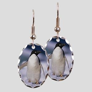 Penguin Earring Oval Charm