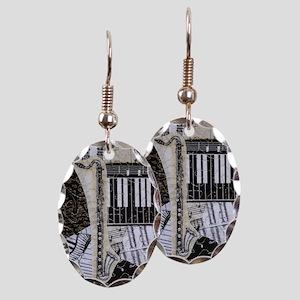 bass-clarinet-ornament Earring Oval Charm