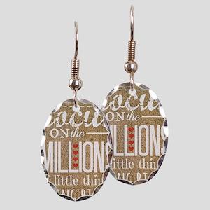 Millions Earring Oval Charm