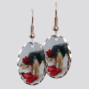 Christmas Surprise! Earring Oval Charm