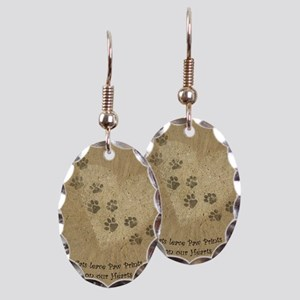 Paw Prints on our Hearts Earring Oval Charm