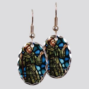 Saint Francis of Assisi Earring Oval Charm