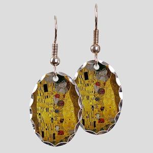 Gustav Klimt The Kiss Earring Oval Charm