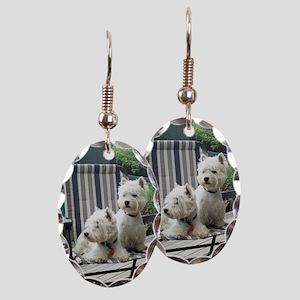 Westiechairect Earring Oval Charm