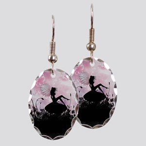 Fairy Silhouette Earring Oval Charm