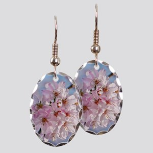 Japanese Cherry Blossoms Earring Oval Charm