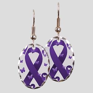 Purple Awareness Ribbon Earring
