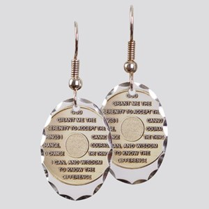 SERENITY COIN Earring Oval Charm