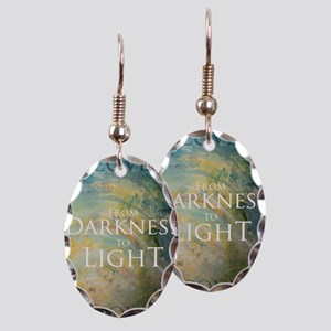 PSTR-from darkness to light Earring Oval Charm