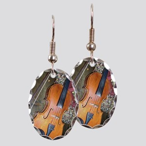 fiddle Earring Oval Charm