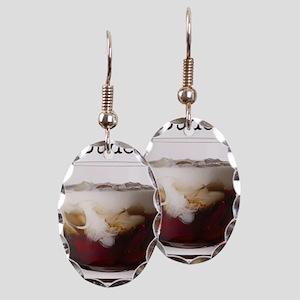 Big Lebowski White Russian Earring Oval Charm