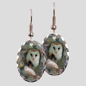 Happy Owls Earring Oval Charm