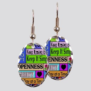 12 step sayings Earring Oval Charm